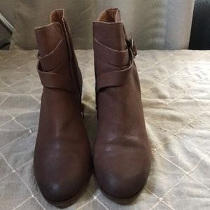 LUCKY BRAND GINNIE BROWN LEATHER BOOTIES SIZE 10M